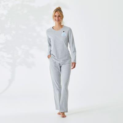 Damen-Schlafhose mit Karomuster, Mix&Match