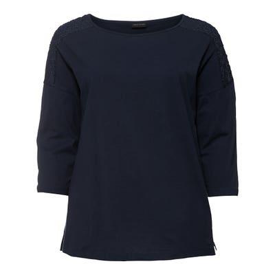 Damen-Shirt mit Spitzeneinsatz, große Größen