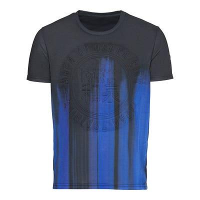 Herren-T-Shirt mit gesticktem Frontmotiv